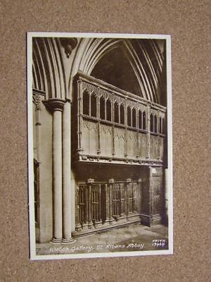 1900s Postcard The Watch Gallery,St Albans Abbey,Hertfordshire.