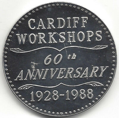Cardiff Workshop 60th Anniversary 1928-1988 Commemorative Medal 45 mm