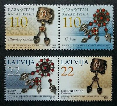 Kazakhstan Latvia Joint Issue Traditional Jewelry 2006 (stamp pair) MNH