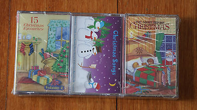 3 x CHRISTMAS SONGS (cassettes)