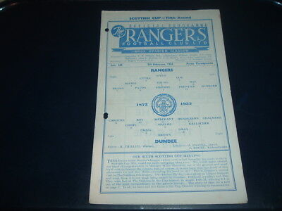 Rangers v Dundee Feb 1955 Scottish Cup