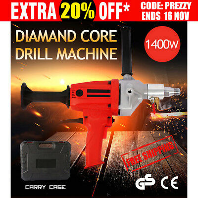 1400W Diamond Core Drill Concrete Hand-Held Machine Electric Wet Drilling NEW
