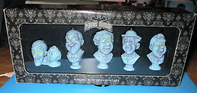 Disney Parks ~ The Haunted Mansion Singing Busts Ornament Set - USED