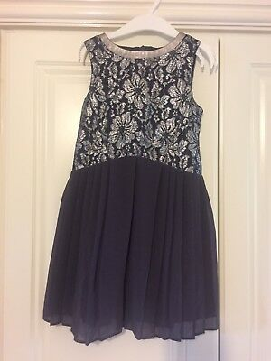 Gorgeous Girls  Next Silver Lace Party Prom Occasion Dress Age 4 Years