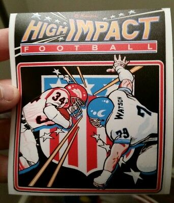 High Impact Football cabinet art sticker 4.25x5. (Buy 3 stickers, GET ONE FREE!)