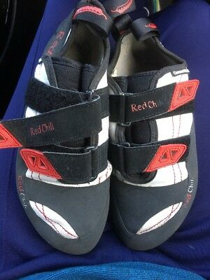 Red Chilli Climbing Shoes Size 6.5 Uk 40 EUR