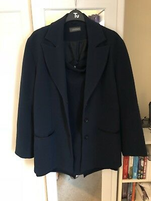 Women's Size 16 Chatters Skirt And Suit Jacket Navy Blue