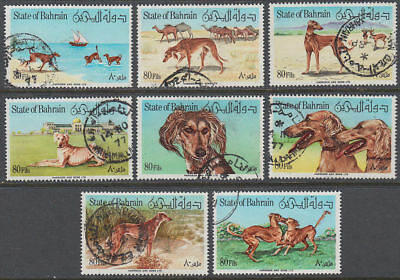 Bahrain 1977 Mi.266/73 fine used Perischer Windhund Persian Greyhound [gb072]