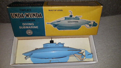 UNDA-WUNDA Clockwork Diving Submarine Sutcliffe Model +OVP