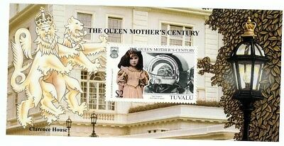 Tuvalu Mnh 1999  The Queen Mother's Century Minisheet