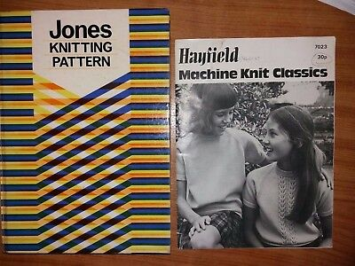 Jones And Brother  Knitting Machine Stitch Pattern Book +machine knit classics