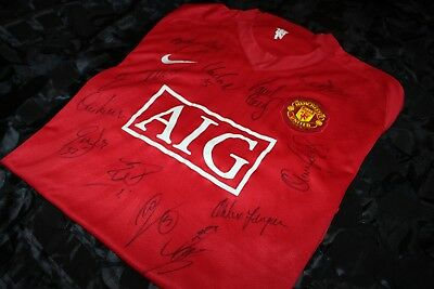Manchester United Champions League Winners 2007/08 Signed Jersey Shirt 2008 Coa
