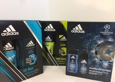 Adidas Duo Gift Set 250ml Body/Hair Wash & 150ml Deodorant Body Spray