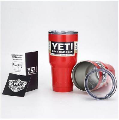 Red Yeti Rambler 30 oz Stainless Steel Tumbler Insulated Cup Coffee Mug