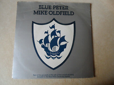 """Mike Oldfield Blue Peter 7"""" P/S Single Virgin 1979 VG+ Condition.."""