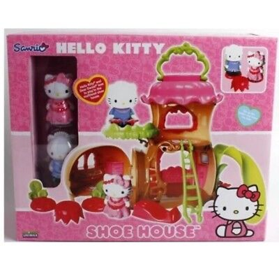 Hello Kitty Play Toy Shoe House Play set kitty doll figures new in box