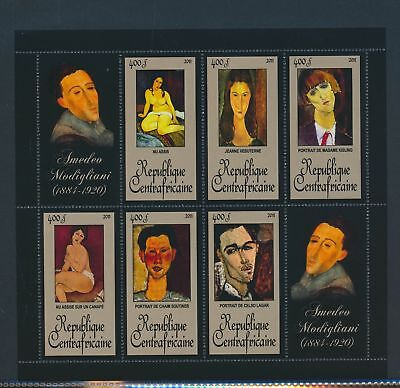XA82104 Central Africa 2011 Amadeo Modigliani art paintings XXL MNH