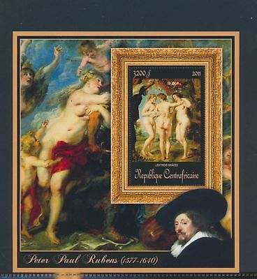 XA82179 Central Africa 2011 Peter Paul Rubens art paintings XXL sheet MNH