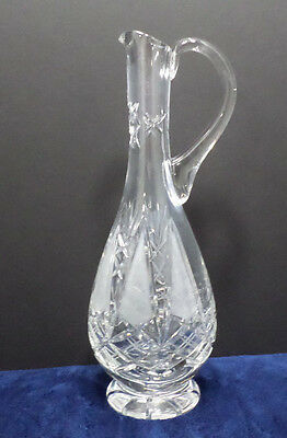 Vintage Crystal Decanter with Applied Handle