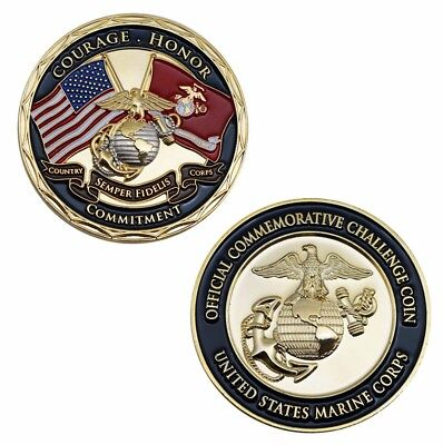 Us Marine Corps Courage Honor Commitment Challenge Coin S6