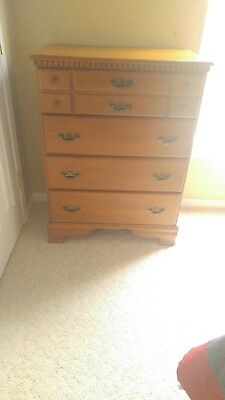 Wood high chest of drawers