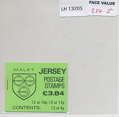 LH13205 Jersey Malet coat of arms booklet MNH face 3,84£