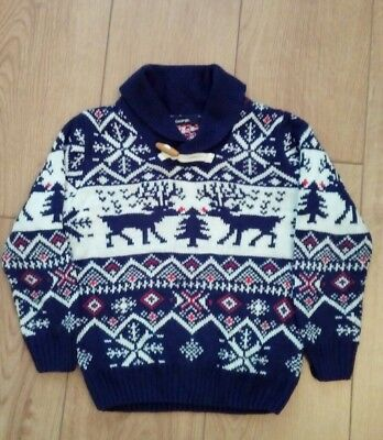 Boys Christmas Reindeer Jumper Age 4/5 Years