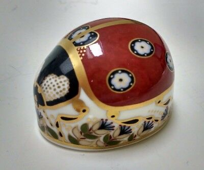 Royal Crown Derby Ladybird Paperweight Red