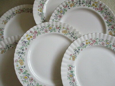 Vintage china Dinner plates attractive floral design 10.25 inch  26.5 cm x 6