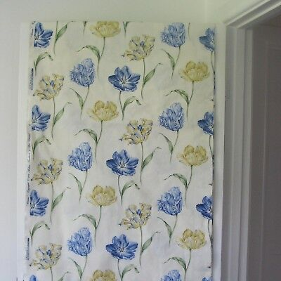 """Arthur Sanderson """"bloom""""  Fabric : Lovely Blue & Gold Classic Floral Shabby Chic"""