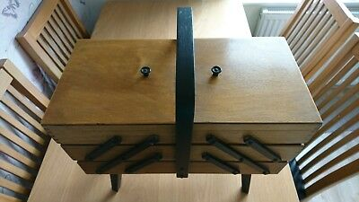vintage/retro cantalever sewing box on legs