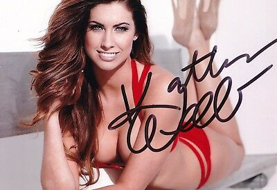 SEXY Katherine Webb original HAND SIGNED photo + COA
