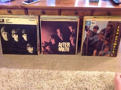 """Job Lot of 12"""" L.P. Records from 1960's inc. Beatles, Stones, Animals..."""