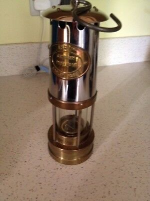 Brass And Steel Miners Protector Lamp Cambrian Type 1A