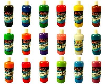 Student Acrylic Washable Poster Paint 500ml Kids School Project Art Craft