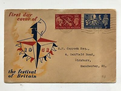 First Day Cover 1951 Festival of Britain including card insert