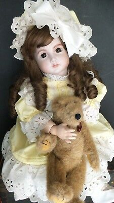 BEAUTIFUL FACE! Antique FRENCH Bisque JUMEAU A 14 T DOLL Reproduction