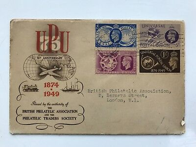 First Day Cover 1949 Universal Postal Union 75th Anniversary