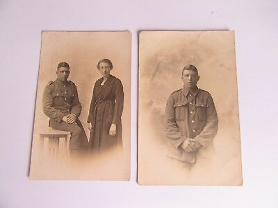 WWI PHOTO POSTCARD MILITARY - Unknown soldier - Possibly Border Regiment