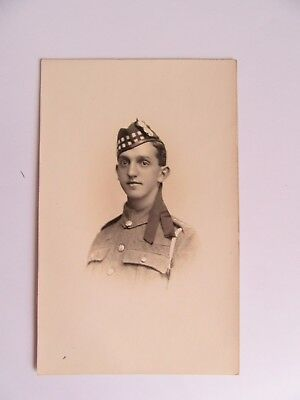 WW1 military postcard Unknown soldier Argyle Sutherland Highlanders