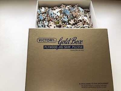 Vintage Victory gold box jigsaw puzzle 600 pieces Compleet