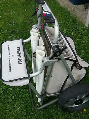 vintage gemini by issemann golf trolley with seat