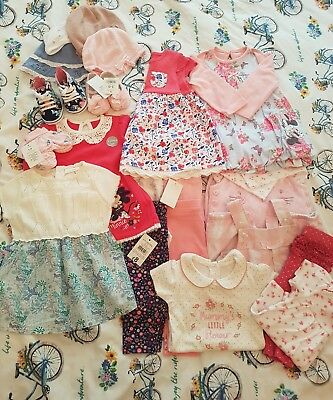 Baby girls clothes bundle 3-6 months New with tags dresses tops leggings shoes..