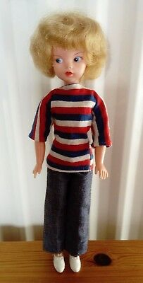 Vintage 1965  Made In England Sindy Doll with Weekender Outfit