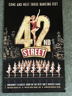 42 ND STREET the musical Original Theatre Poster Theatre ROYAL DRURY LANE