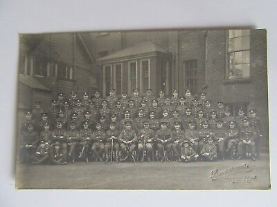 WW1 Military Postcard - Group of Soldiers in Uniform West Yorkshire Regiments