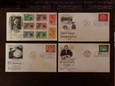 United Nations First Day Covers, plus extras