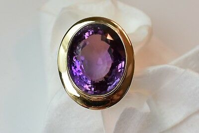 ESTATE Vintage SOLID 14k GOLD RING Oval Amethyst 20 ct below wholesale cost
