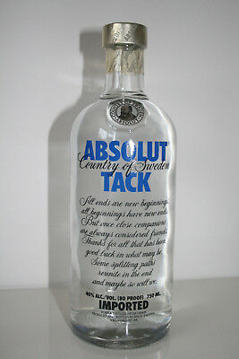 ABSOLUT TACK Vodka, 750 ml, originally sealed