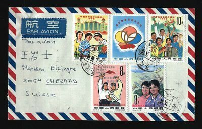 China cover From NANKIN Par Avion 1966 To Switzerland